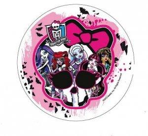 Modecor - opłatek na tort okrągły Monster High A