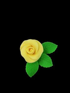 Róża mała z listkami - żółta 20 kompletów