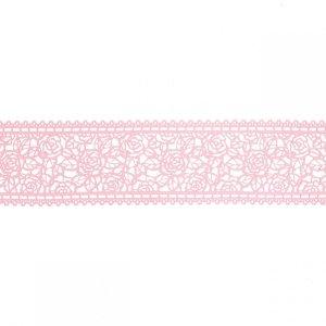 Cukrowa jadalna KORONKA do dekoracji tortu 120cm 07 pudrowa