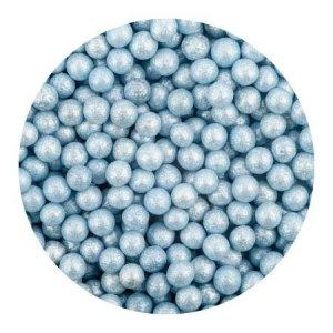 Perełki cukrowe NIEBIESKIE nabłyszczane miękkie 5mm 50g