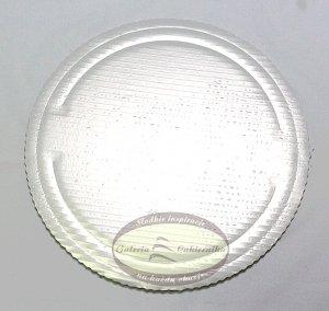 Podkład tortowy tacka z tektury perłowa śr. 32 cm