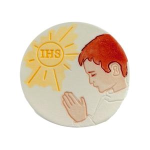 Hostia z chłopcem - dekoracja cukrowa ręcznie malowana