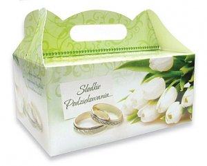 Ozdobne pudełko na ciasto weselne 1 szt. Tulipany