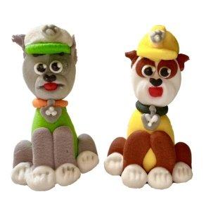 Figurki cukrowe na tort Psi Patrol: Rubble i Rocky 2 szt