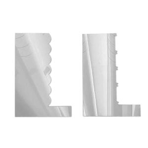 Metalowe SKROBKI do kremu grzebienie (wzór 2) - 2szt