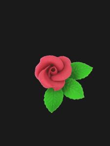 Róża mała z listkami - lilaróż 20 kompletów