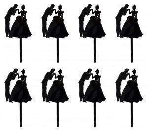 Czarne TOPPERY pikery na muffiny PARA MŁODA 8szt