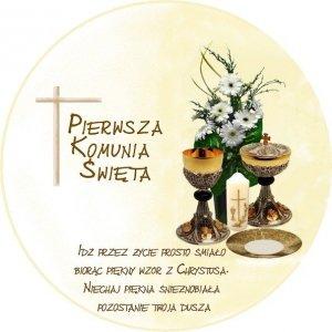 Hokus - opłatek okrągły na tort komunijny Patena - 12 szt