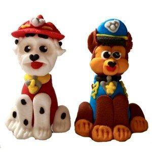 Figurki cukrowe na tort Psi Patrol: Chase i Marshall 2 szt