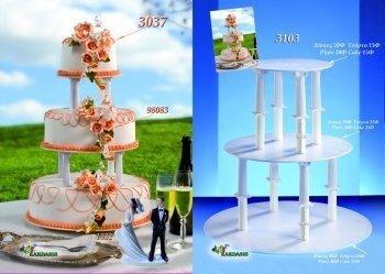 Kardasis - stojak okrągły na torty weselne 3-piętrowy 8 Kolumn