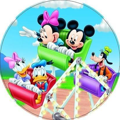 Opłatek na tort okrągły Mickey Mouse Diabelski Młyn