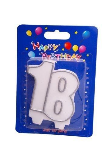 """Świeczka cyfra """" 18 """""""