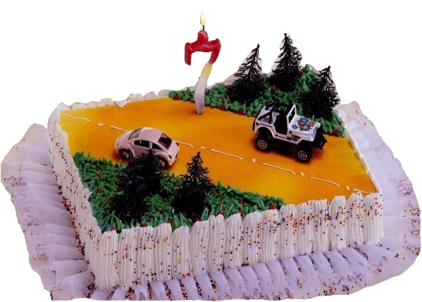 Kardasis - zestaw do dekoracji tortu Samochody