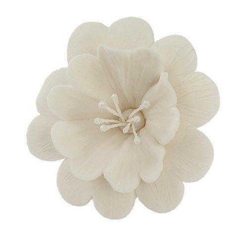 Fuksja biała - kwiaty cukrowe - 8 szt.