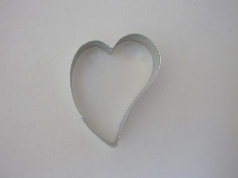 Wykrawaczka do ciastek SERCE KRZYWE - 6,5 cm