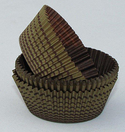 Papilotki - foremki do mufinek brązowo-złote 45 mm 100 szt.