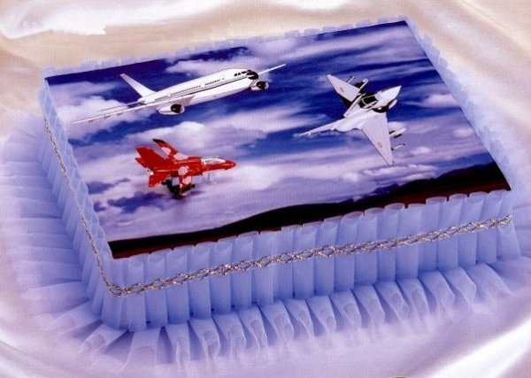 Kardasis - zestaw do dekoracji tortu Samoloty + opłatek