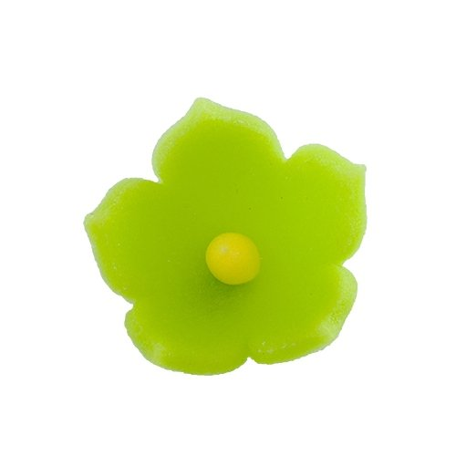 HOKUS - Kwiatek firmowy limonkowy - Kwiaty cukrowe 8 x 10 szt.