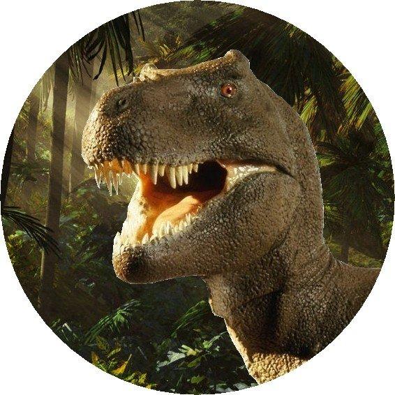 Hokus - opłatek na tort okrągły Tyranozaur 5