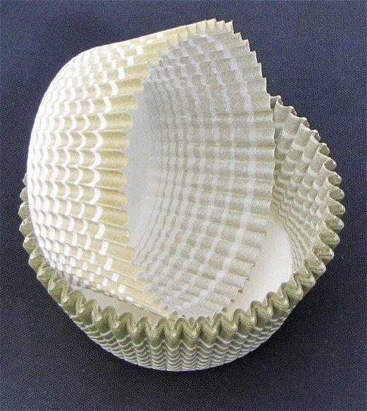 Papilotki - foremki do mufinek oliwkowe 45 mm 100 szt.
