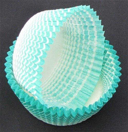 Papilotki - foremki do mufinek zielone  40 mm 100 szt.