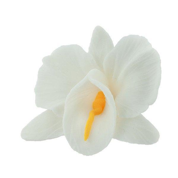 Kwiaty cukrowe - Storczyk opak. 10 szt. biały