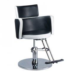 Fotel Fryzjerski Luigi BR-3927 Czarno-biały BS