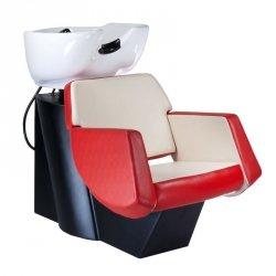 Myjnia Fryzjerska Nico Czerwono-Kremowa BD-7821 BS