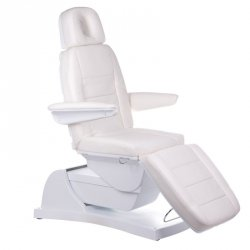 Elektryczny fotel kosmetyczny Bologna BG-228 Biały BS