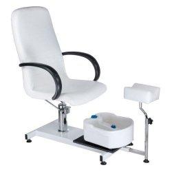 Fotel do pedicure z masażerem stóp BW-100 Biały BS