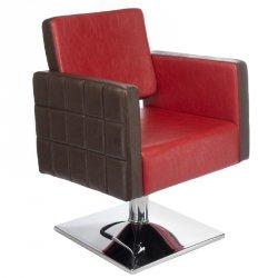 Fotel Fryzjerski Ernesto Czerwono-brązowy BM-6302 BS
