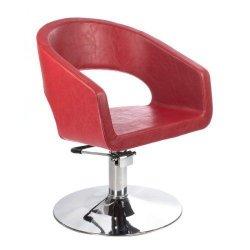Fotel Fryzjerski Paolo BH-8821 Czerwony BS