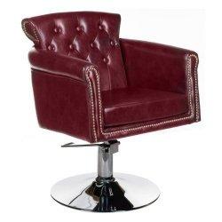Fotel Fryzjerski Alberto BH-8038 Wiśniowy