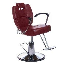 Fotel Barberski Hektor BH-3208 Wiśniowy BS