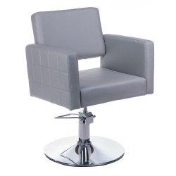 Fotel Fryzjerski Ernesto Jasno Szary BM-6302 BS