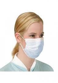 Maska medyczna włókninowa 3-warstwowa na gumkę - Biała 50 sztuk