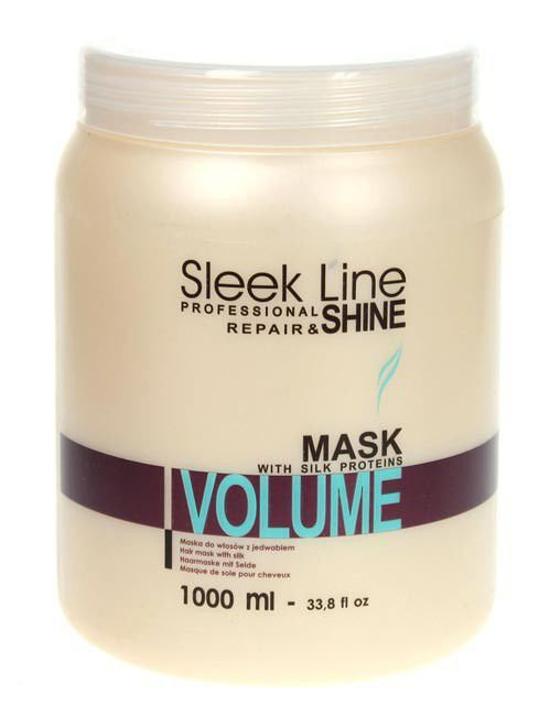 STAPIZ - Maska do włosów Sleek Line Volume 1000 ml