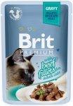 Brit Premium Cat Adult Filety wołowe w sosie 85g