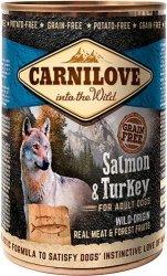 Carnilove Dog Salmon & Turkey - mokra karma dla dorosłych psów 400g