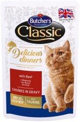 Butchers Cat Classic Delicious Dinners Wołowina w sosie 100g