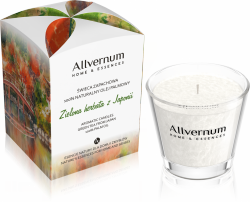 Aromatic Candle Green Tea from Japan, 100% Palm Oil, Allvernum