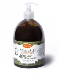 Liquid Soap 40% Laurel Oil, 100% Natural, Alepia, 500ml
