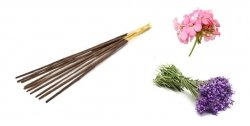 Natural Incense Sticks Lavender & Geranium, Aromatika