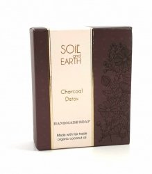 Naturalne Mydło Oczyszczające z Węglem, Soil & Earth, 100g