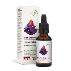 Resvadrop, Resweratrol, Krople, Aura Herbals, 30ml