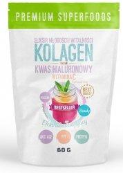 Kolagen + Witamina C + Kwas Hialuronowy, Intenson, 60g