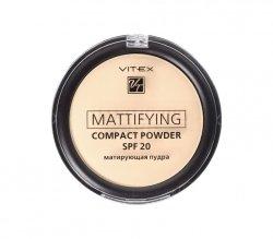 Matujący Puder w Kompakcie SPF20, Vitex, 02 Natural beige