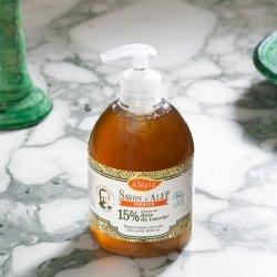 Mydło Aleppo Premium w Płynie 15% Oleju Laurowego BIO, 500ml