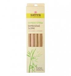 Bambusowe Słomki z Czyścikiem, Sattva, 5 sztuk