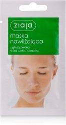 Nawilżająca Maska do Twarzy z Zieloną Glinką, Ziaja, 7ml